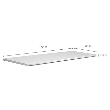 """NewAge Products Home Bar 72"""" x 25"""" Countertop - (White or Espresso)"""