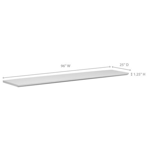 """NewAge Products Home Bar 96"""" x 25"""" Countertop - (White or Espresso)"""
