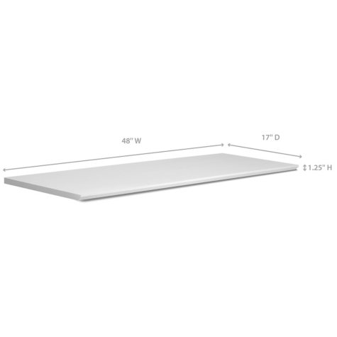 "NewAge Products Home Bar 17"" x 48"" Countertop (White)"