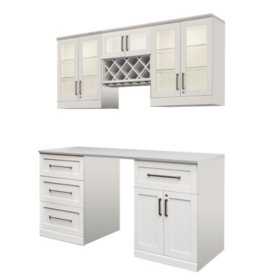NewAge Products Shaker Style Bar Cabinets 6-Piece Set (Various Options)