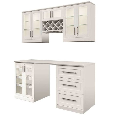 NewAge Products Shaker Style Bar Cabinets 6-Piece Set (White)
