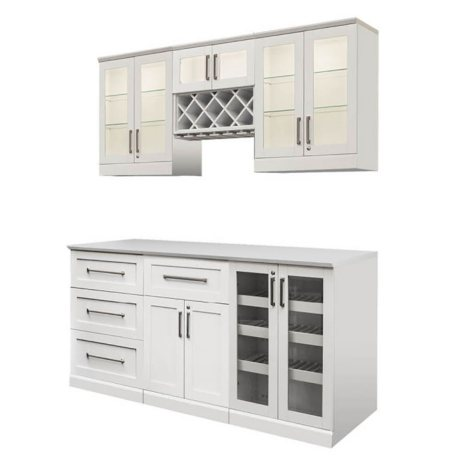 NewAge Products Shaker Style Bar Cabinets 7-Piece Set - (Various Options)