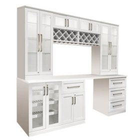 NewAge Products Shaker Style Bar Cabinets 8-Piece Set (Various Options)