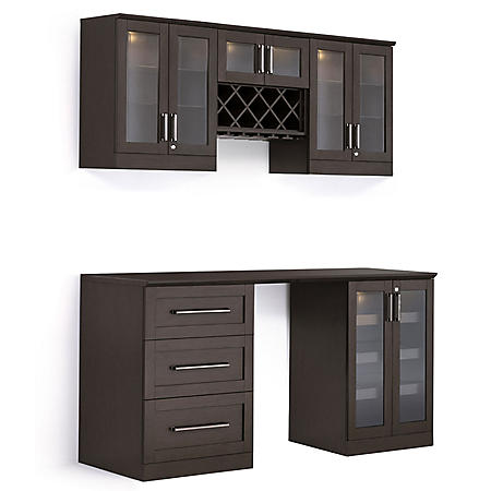 NewAge Products Shaker Style Bar Cabinets 6-Piece Set (Various Colors)