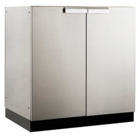 "NewAge Products Outdoor Kitchen 32"" 2-Door Stainless Steel Cabinet"