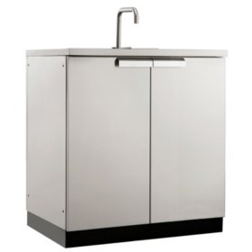 NewAge Products Outdoor Kitchen Stainless Steel Sink Cabinet