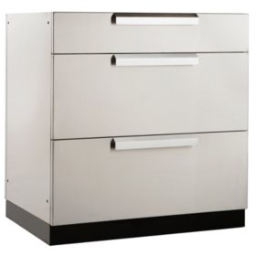 "NewAge Products Outdoor Kitchen 32"" Stainless Steel Classic 3-Drawer Cabinet"