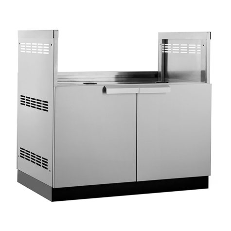 """NewAge Products Outdoor Kitchen 40"""" Stainless Steel Classic Grill Cabinet"""
