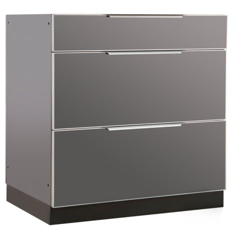 "NewAge Products Outdoor Kitchen 32"" Aluminum 3-Drawer Cabinet"