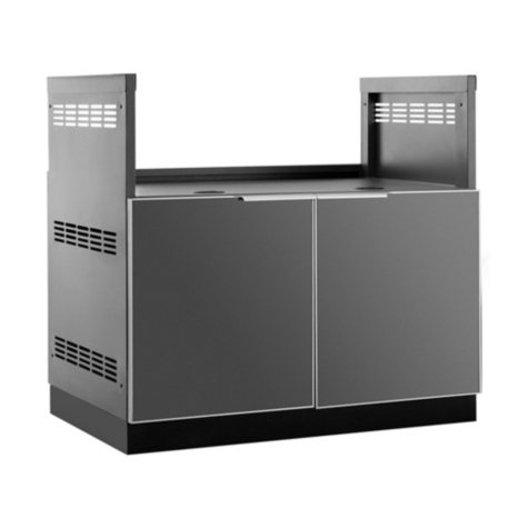 "NewAge Products Outdoor Kitchen 40"" Aluminum Grill Cabinet"
