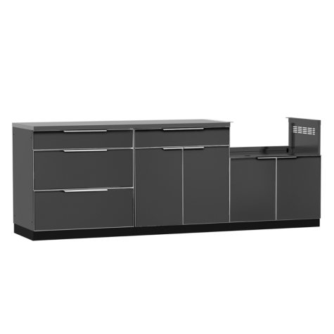 NewAge Products Outdoor Kitchen Cabinet Aluminum 4-Piece Set