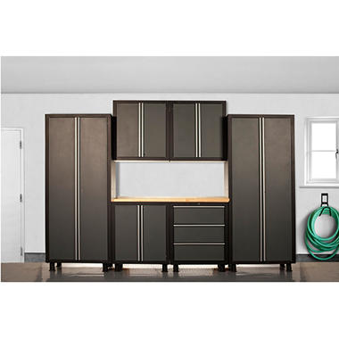 Coleman Cabinet Set   Gray   7 Pc.