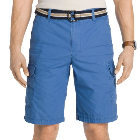 IZOD Men's Belted Cargo Short