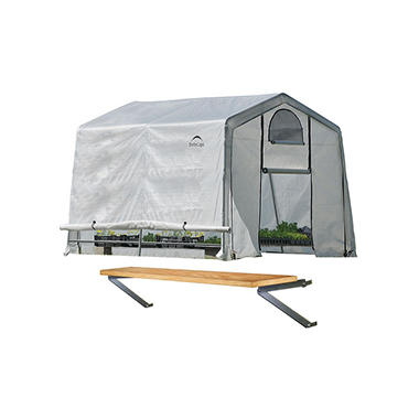 10 x 10 ft. Greenhouse With Shelf Kit