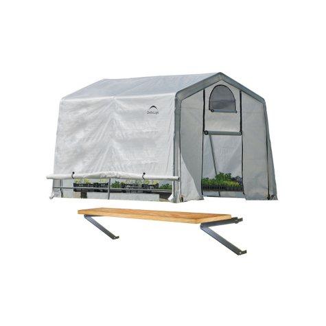 10 x 10 ft. Greenhouse With Shelf Kit