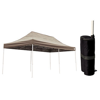 10 x 20 ft. Pop-Up Canopy with Anchor Bags - Desert Bronze  sc 1 st  Samu0027s Club & 10 x 20 ft. Pop-Up Canopy with Anchor Bags - Desert Bronze - Samu0027s ...