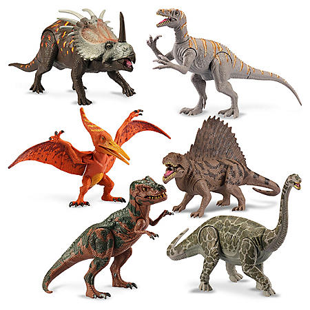 "9"" Poseable Dinosaurs 6PK"