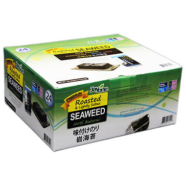 Jayone Roasted & Lightly Salted Seaweed (0.17 oz. bags, 24 ct.)