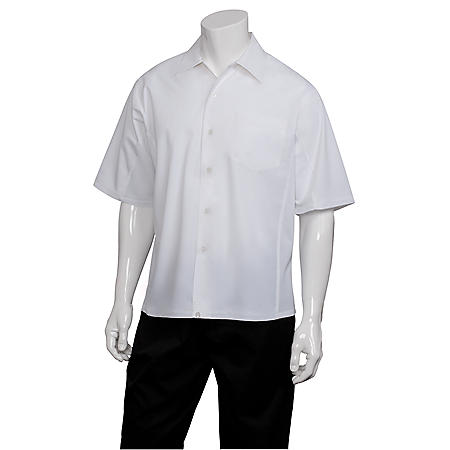"""Chef Works Cool Vent Cook Shirt - White - """"L"""""""