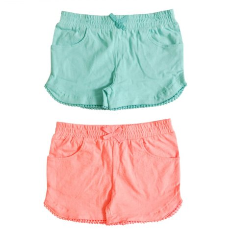 2-Pack Shorts with Pompom Trim Detail