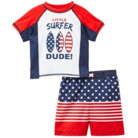 Baby Buns Boys' Swim Suit with Rashguard