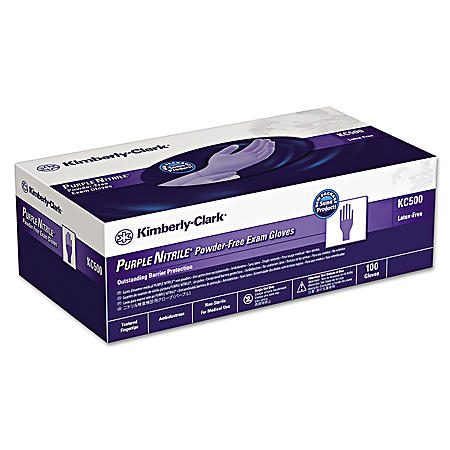 Kimberly-Clark Professional - PURPLE NITRILE Exam Gloves, Small, Purple -  100/Box