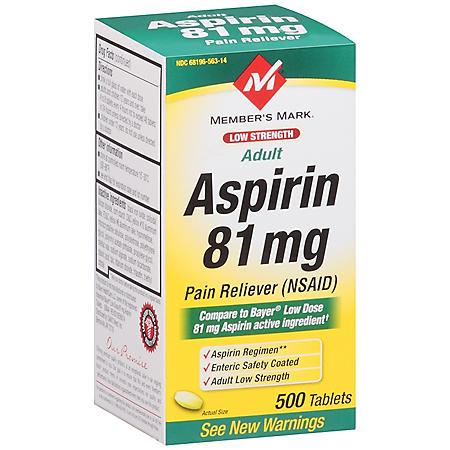 Member's Mark® Adult Aspirin - 500/81 mg