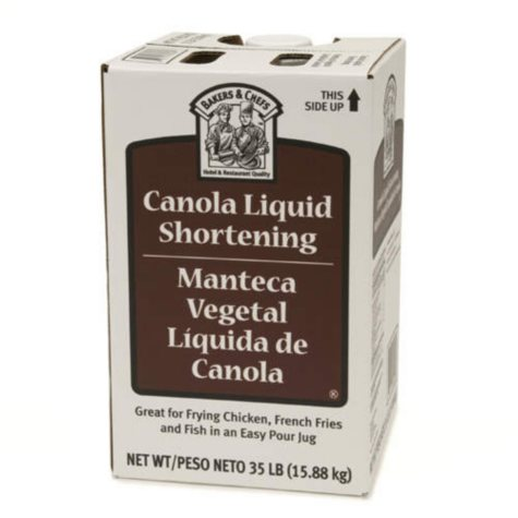Bakers & Chefs Canola Liquid  Shortening - 35 lbs.