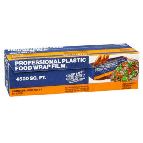 "Professional Plastic Food Wrap Film-18"" x 3000'"