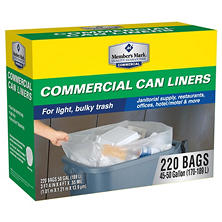 Member's Mark 45-50 Gallon Commercial Trash Bags (220 ct.)