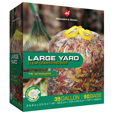 Member's Mark® Drawstring Yard Bags - 39 gal. - 90 ct.