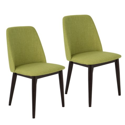 Tintori Mid-Century Dining Chairs - Set of 2, Green