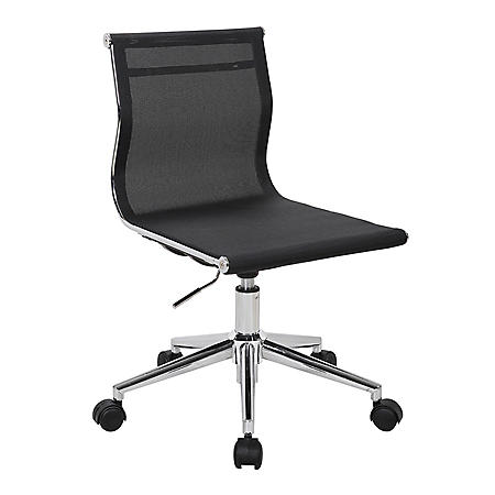Mirage Contemporary Task Chair in Chrome (Assorted Colors)