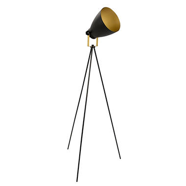 Grammy Modern Reader Lamp in Black and Gold