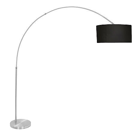 Salon Contemporary Floor Lamp with Satin Nickel Base (Assorted Colors)