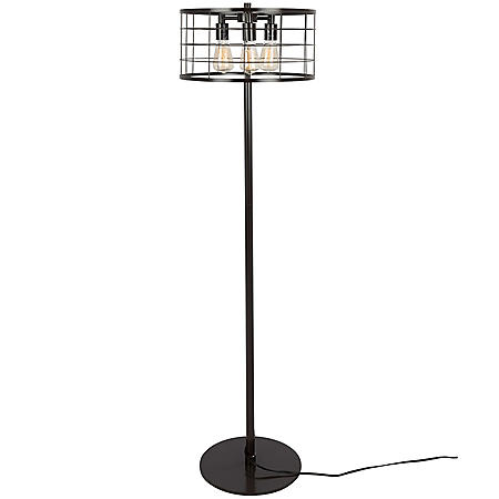 Indy Wire Industrial Floor Lamp in Antique