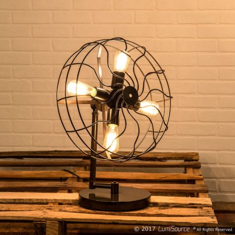 Ozzy Industrial Table Lamp in Antique