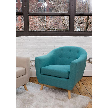 Rockwell Mid Century Modern Accent Chair (Assorted Colors)