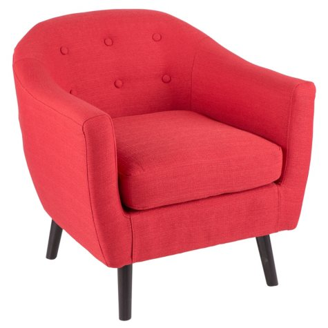ROCKWELL RED UPHOLSTERED CHAIR