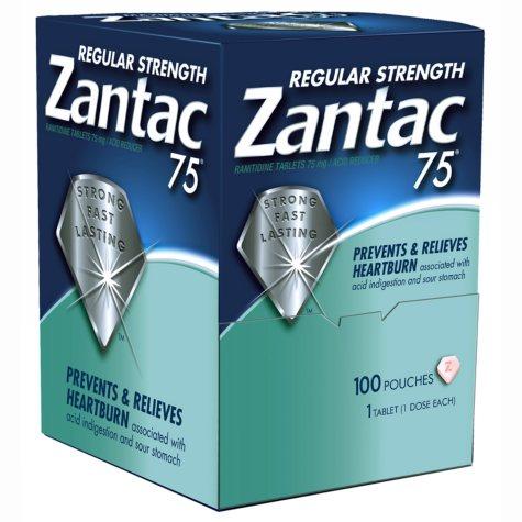 Zantac 75mg -  100 ct. dispenser