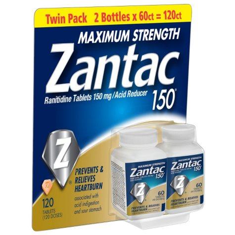 Zantac 150mg Maximum Strength (120 ct.)