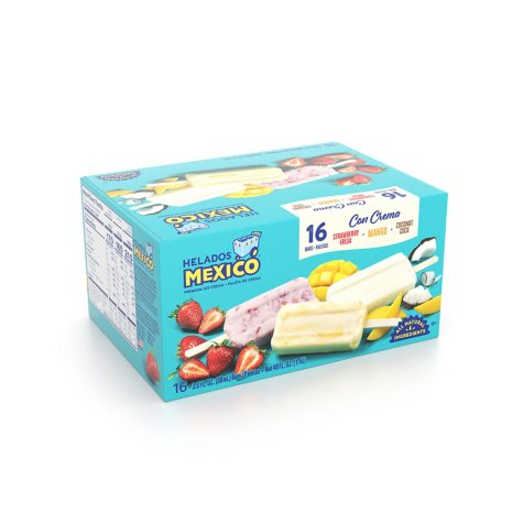 Helados Mexico Ice Cream Bars, Fruit (3 oz., 16 pk.)