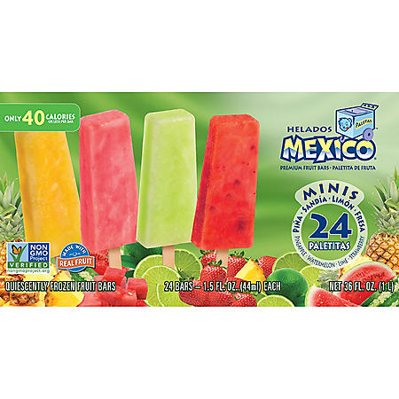 Helados Mexico Premium Mini Fruit Bars (24 ct.)