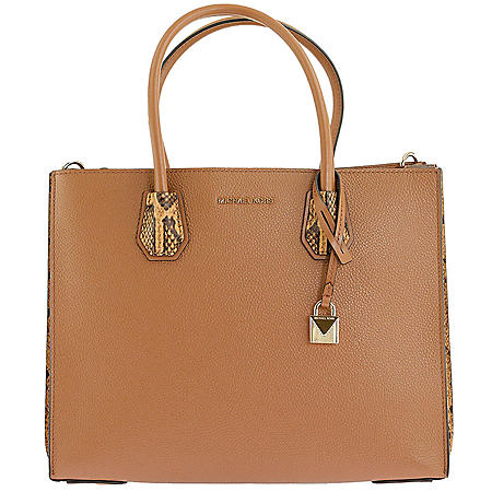 Mercer Large Pebbled and Embossed Leather Accordion Tote by Michael Kors