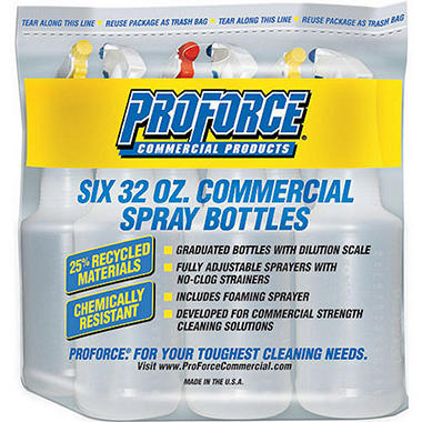 ProForce Commercial Spray Bottles - 6 Pack