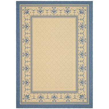 Courtyard Rug - Natural/Blue 7'10