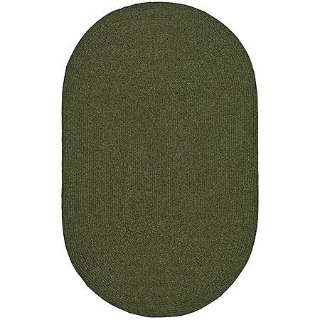 Safavieh Braided Oval Rug - Green - 3' x 5'
