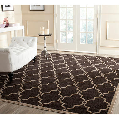 Newport Collection Area Rug 8 X 10 Chocolate Wheat