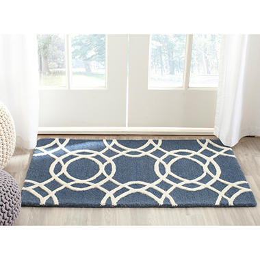 Martha Stewart Plush Textured Scatter Wool Rug, Various Color Patterns