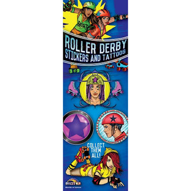 Roller Derby Stickers and Tattoos - 300 pc.